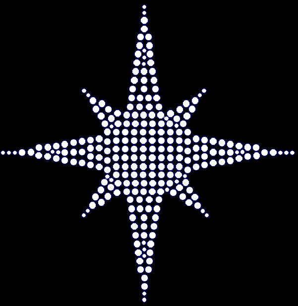 Eight Point Star Rhinestone Transfer