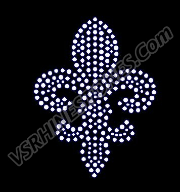 Fleur De Lis - Cap Size ALL CLEAR - Set of 2