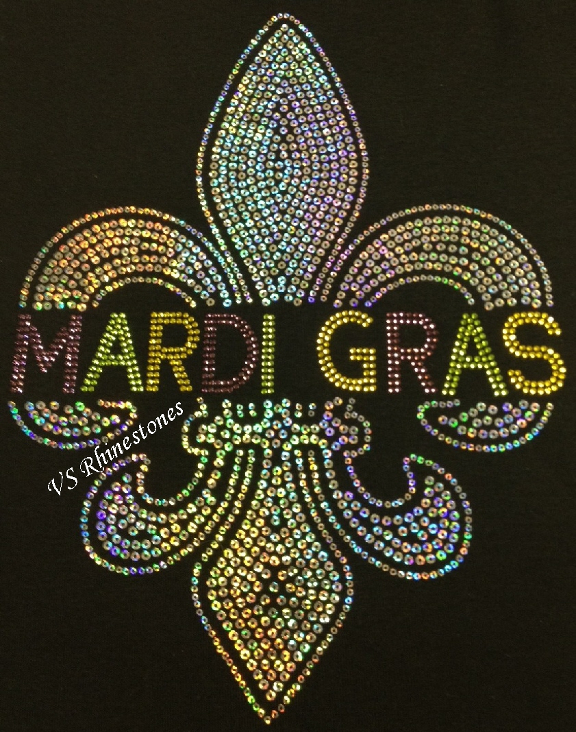 Fleur De Lis Rhinestone and Sequin Combo - Got beads?