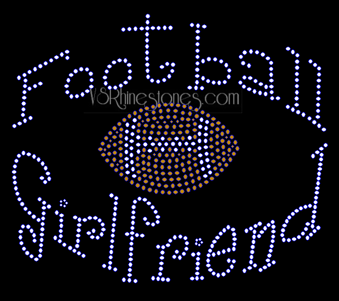 Football Girlfriend Rhinestone Transfer