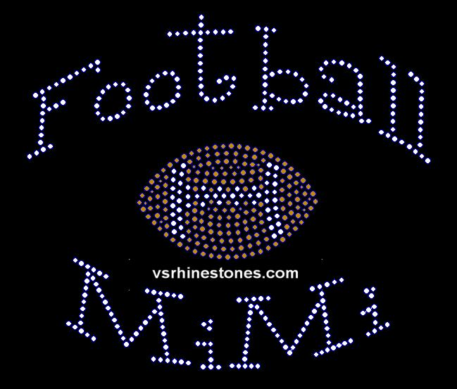 Football MiMI Rhinestone Transfer
