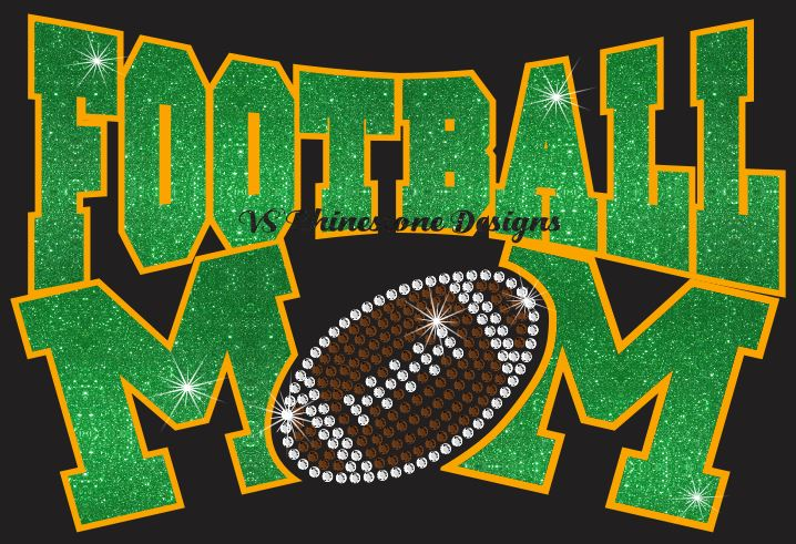 Football Mom Rhinestone and Vinyl