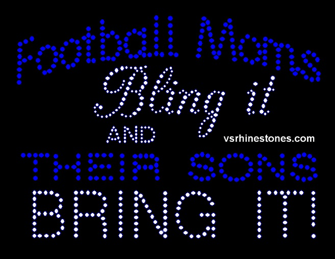Football Moms Bling It and Their Sons Bring it - Orange