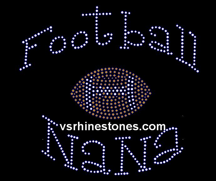 Football NaNa Rhinestone Transfer
