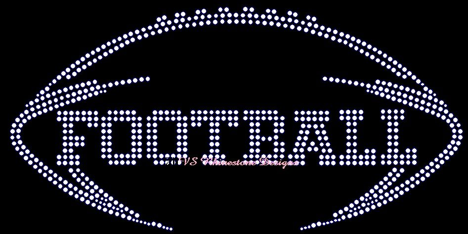 Football Sport Rhinestone Transfer