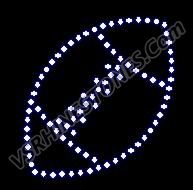 Small Football Rhinestone Transfer (2)