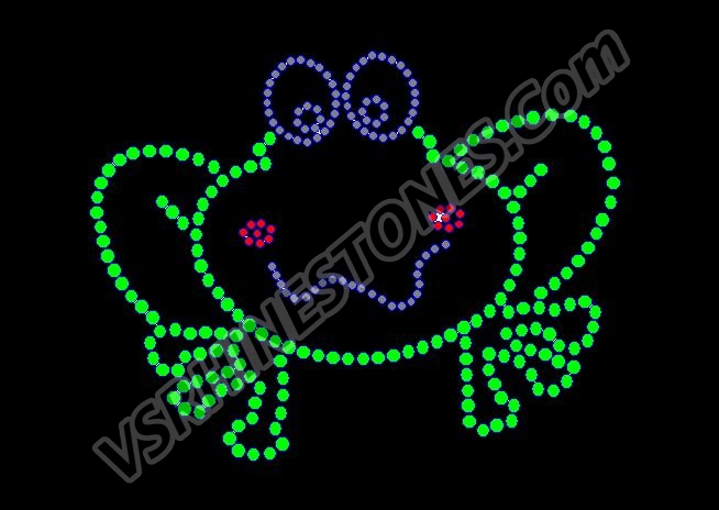 Froggie - Set of 2 Rhinestone Transfer