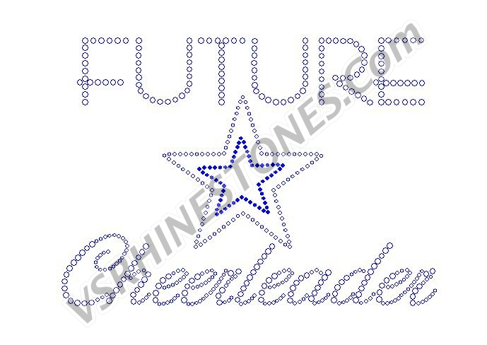 Future Cheerleader Rhinestone Transfer