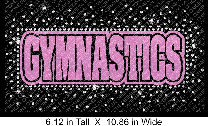 Gymnastics Revers Vinyl and Rhinestone Transfer