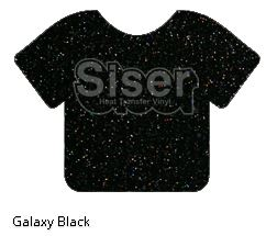 Galaxy Black Glitter Vinyl - Select a Size