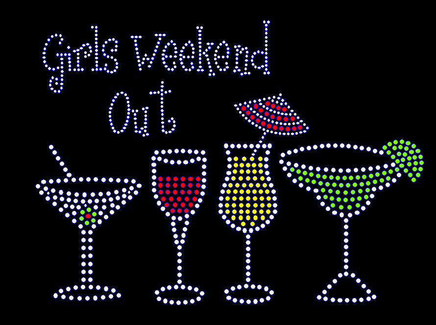 Girls Weekend Out Rhinestone Transfer