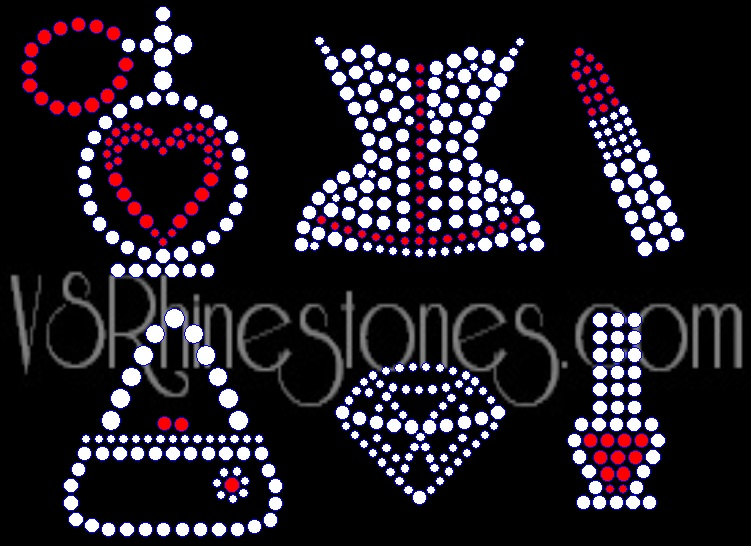 Girly Pack Rhinestone Transfers