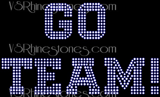 Go Team Rhinestone Transfer