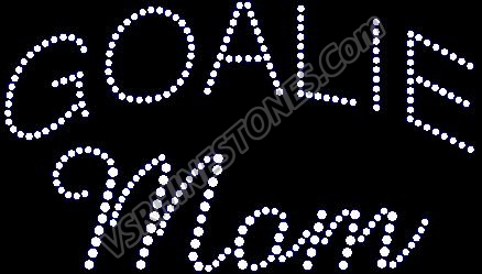 Goalie Mom Rhinestone Transfer