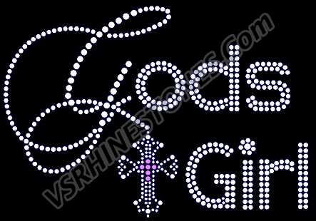 God's Girl Rhinestone Transfer