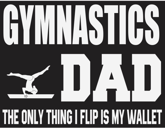 Gymnastics Dad Vinyl Transfer - wallet