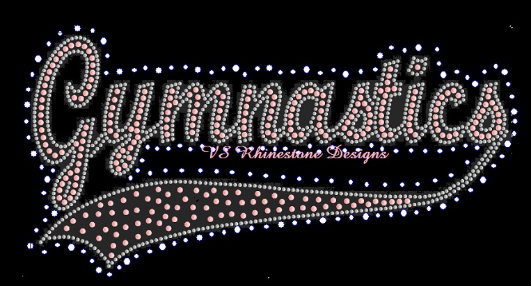 Gymnastics Swosh Rhinestone and Sequin Combo