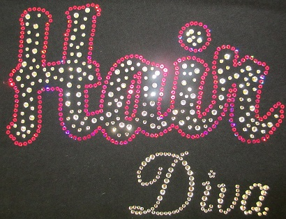 Hair Diva Rhinestone and Sequin Transfer Combo