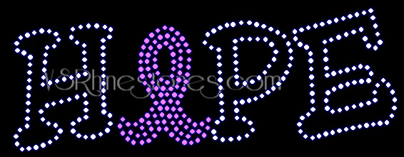 Hope Awareness Rhinestone Transfer