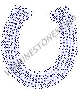 Horseshoe - Clear Rhinestone Transfer