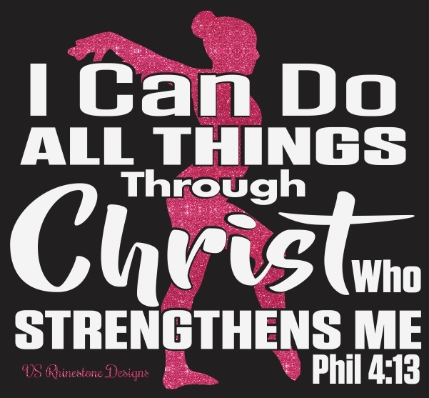 I Can Do All Things Through Christ vinyl transfer - Gymnast
