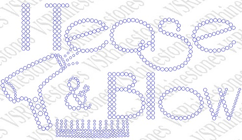 I Tease and Blow Rhinestone Transfer