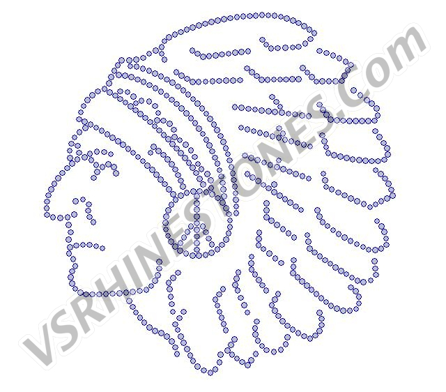 Indian Chief Large Rhinestone Transfer