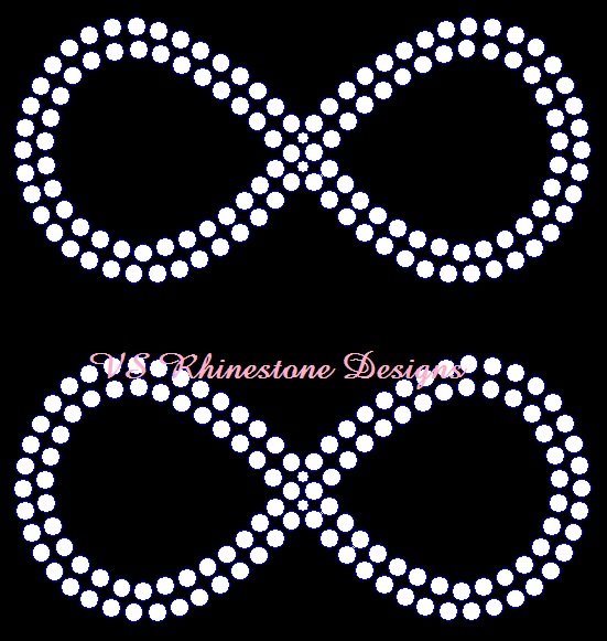 Infinity Sign Small Rhinestone Transfer (2)