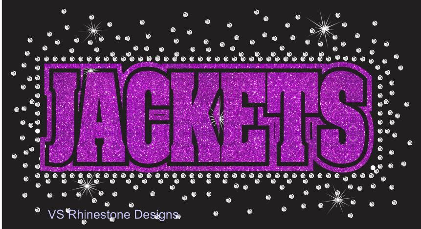 Jackets Reverse Vinyl and Rhinestone Transfer