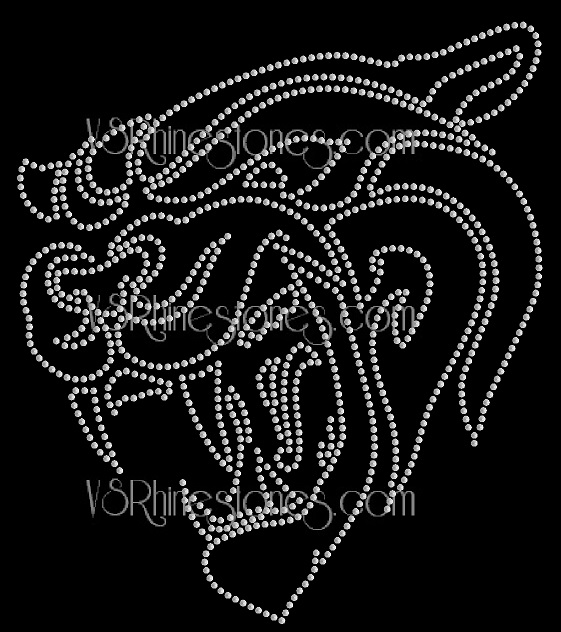 Jaguar Mascot Sequin Transfer