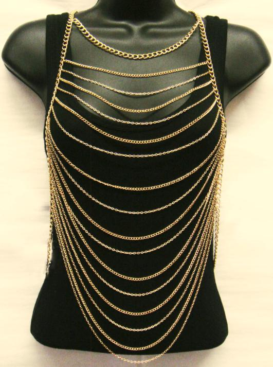 Layered Body Chain - Gold - CLEARANCE