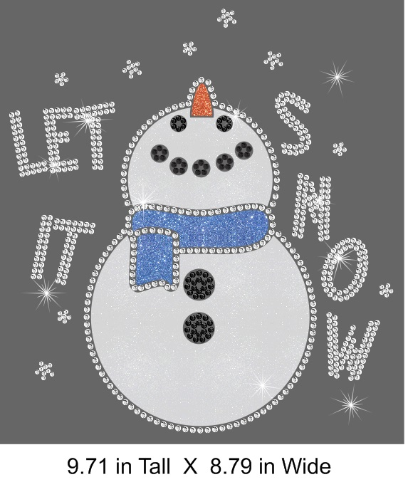 Let It Snowman Vinyl and Rhinestone Transfer
