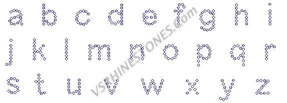 Letters - 1/2 Inch Lower Case Rhinestone Transfer