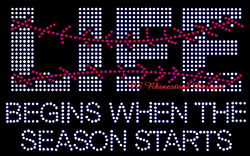 Life Begins when the Season Starts Baseball Rhinestone Transfer