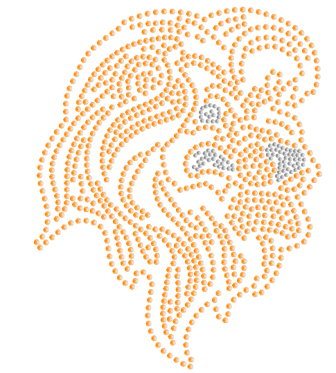 Lion Head Sequins - LARGE GOLD