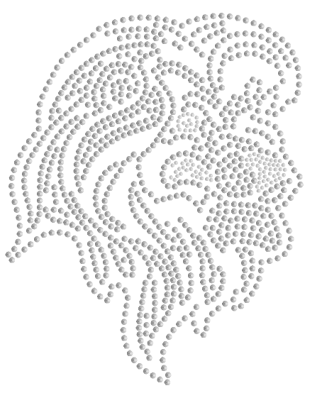 Lion Head Sequins - SMALL Silver