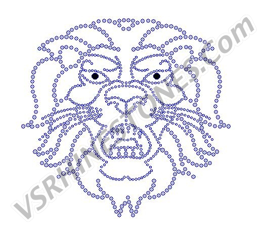 Lion Crystal Rhinestone Transfer