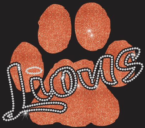 Lions Paw CO Vinyl and Rhinestone Transfer