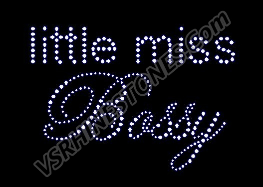 Little Miss Bossy Rhinestone Transfer