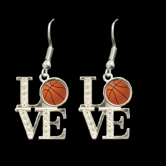 Love Basketball Earrings - CLEARANCE