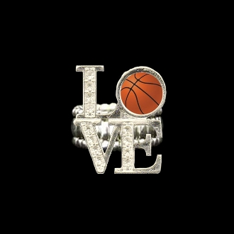 Love Basketball Stretchy Ring - Clearance