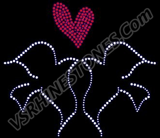Love Birds Rhinestone Transfer