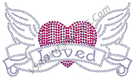 Heart Scroll - Loved Rhinestone Transfer