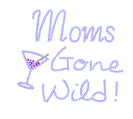 Moms Gone Wild Rhinestone Transfer