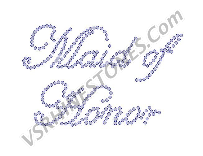 Maid of Honor - Script Rhinestone Transfer