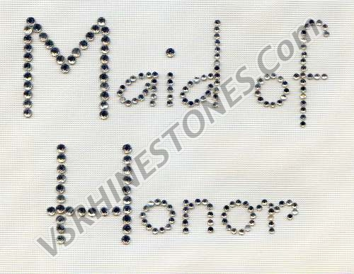 Maid of Honor - Modern Rhinestone Transfer