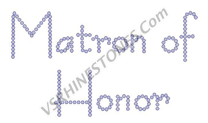 Matron of Honor - Modern Rhinestone Transfer