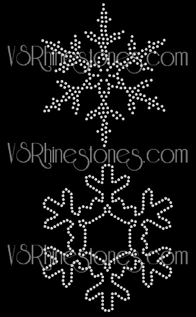 Medium Snowflake Sequin Transfer