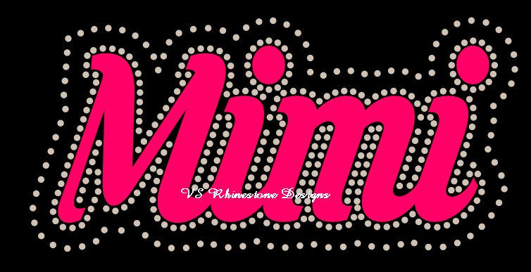 Mimi Cursive Vinyl and Rhinestone Transfer Combination