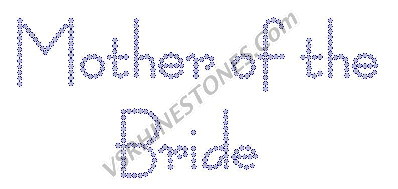 Mother of the Bride - Modern Rhinestone Transfer